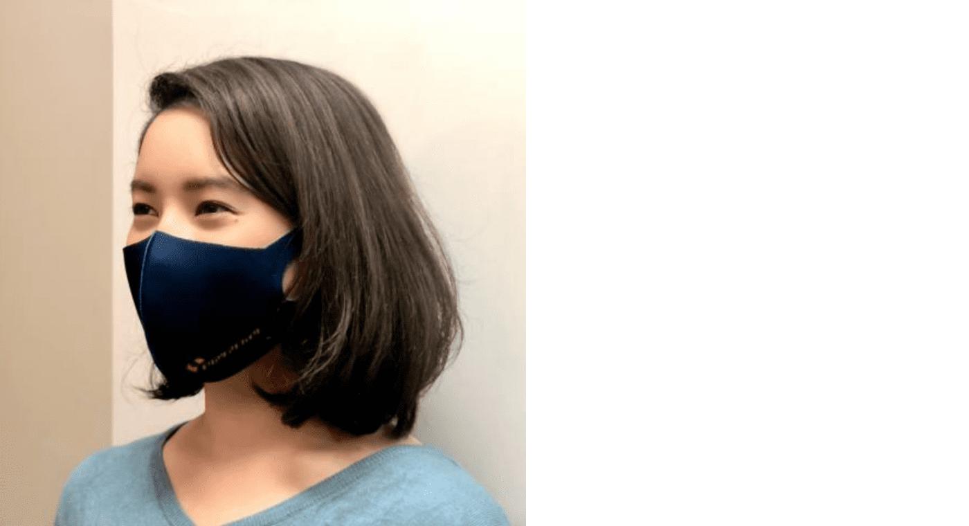 オリジナルマスクの着用例